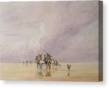 Beach Landscape Drawings Canvas Prints