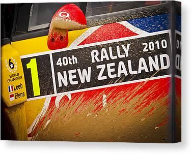 Rally New Zealand Canvas Prints
