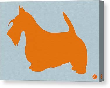 Scottish Dog Canvas Prints