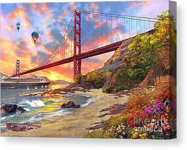 American Landmarks Digital Art Canvas Prints