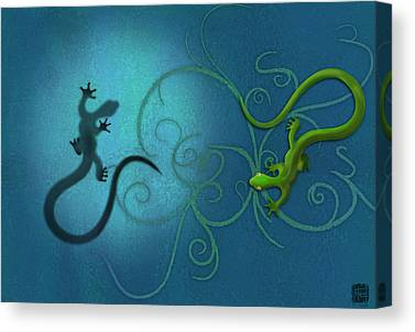 Lizard Canvas Prints