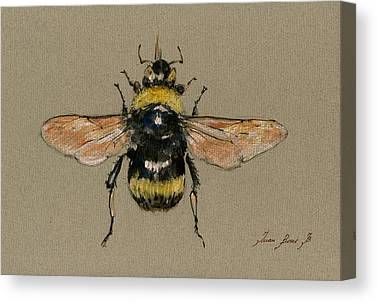 Bumble Bee Canvas Prints