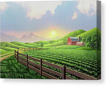 Country Dirt Roads Digital Art Canvas Prints