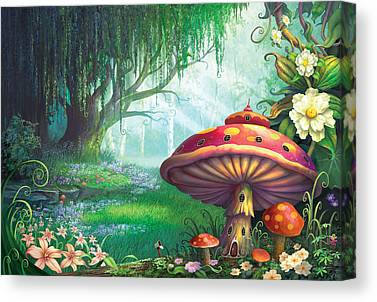 Magic Mushroom Canvas Prints