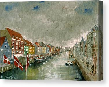 Copenhagen Denmark Canvas Prints