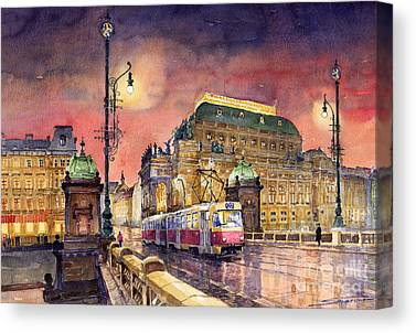 Tram Canvas Prints