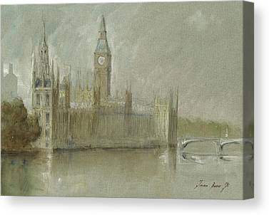 Westminster Palace Canvas Prints