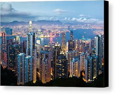 Hong Kong Canvas Prints