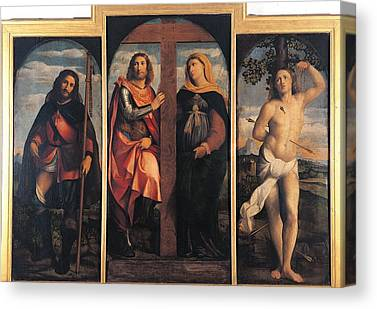 Sts Constantine And Helen Canvas Prints