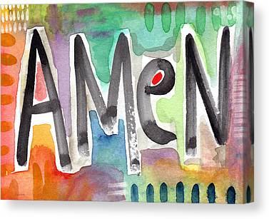 Colorful Paints Mixed Media Canvas Prints