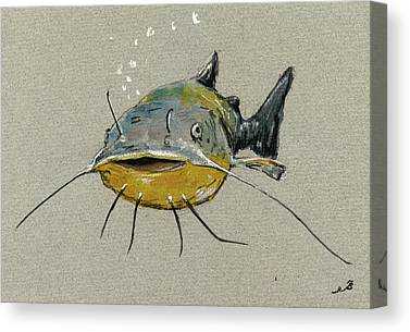 Catfish Canvas Prints