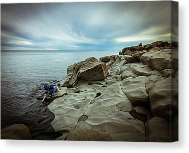 Magic To The Touch Lake Superior Brighton Beach Duluth Nature Greeting Canvas Prints