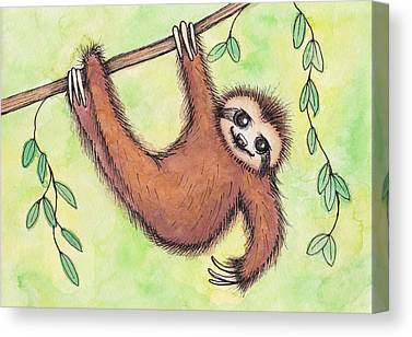 Sloth Canvas Prints