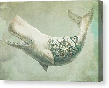 Whale Canvas Prints