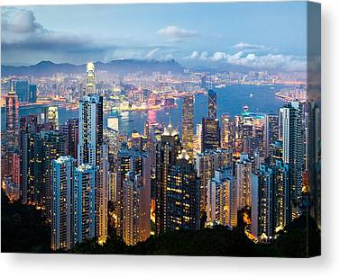 Hong Kong Canvas Prints