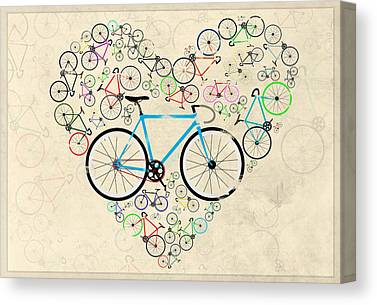 Bicycle Race Canvas Prints