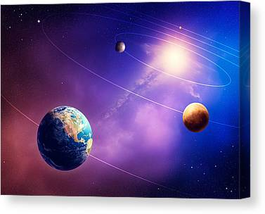 Terrestrial Photographs Canvas Prints