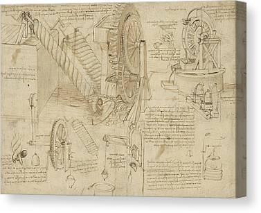 Exploration Drawings Canvas Prints