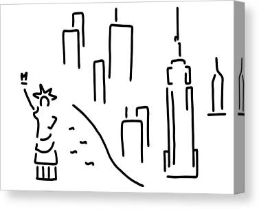 Manhatten Drawings Canvas Prints