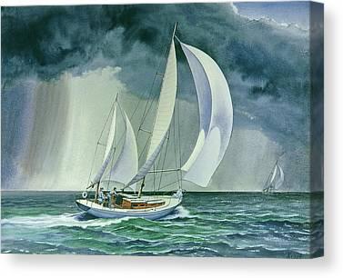 Sailing Race Canvas Prints