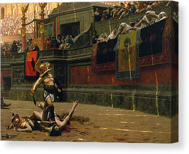 Gladiator Paintings Canvas Prints