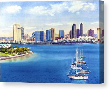 Skyline Paintings Canvas Prints