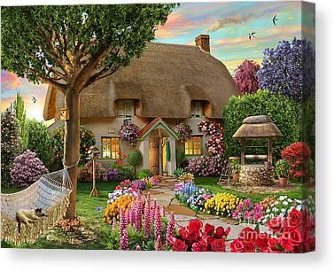 Thatched Cottage Canvas Prints