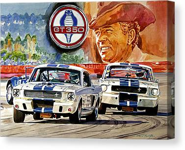 Carroll Shelby Portrait Canvas Prints