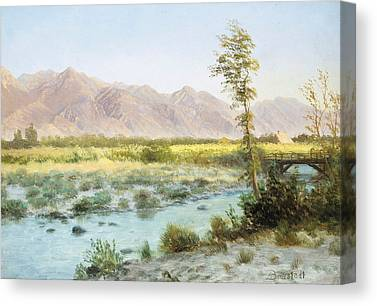 Pioneer Mountains Canvas Prints
