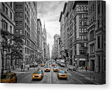 Street Canvas Prints