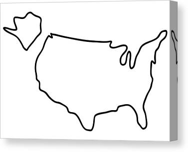 United States Drawings Canvas Prints