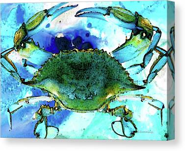 Crabs Canvas Prints