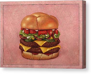 Hamburger Canvas Prints