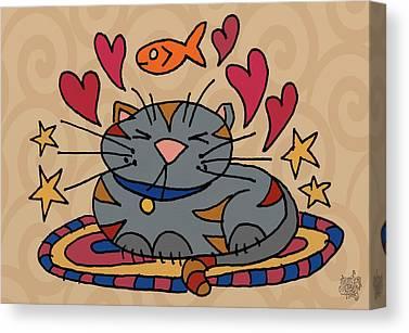 Kittie Mixed Media Canvas Prints