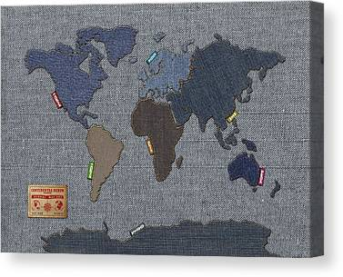 Cartography Mixed Media Canvas Prints