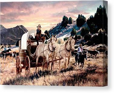 Team Or Horses Canvas Prints