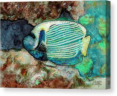 Anglefishes Canvas Prints
