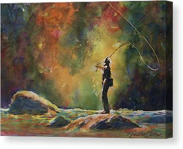 Fly Fishing Pro Canvas Prints