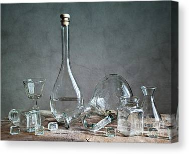 Glass Table Reflection Canvas Prints