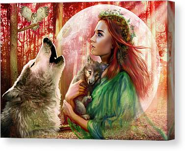 Owl Maiden Canvas Prints