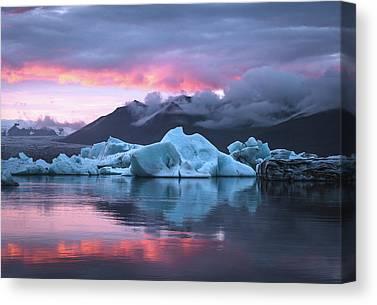 Glacierlagoon Canvas Prints