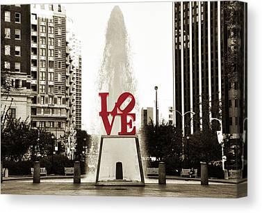 Love Park Canvas Prints