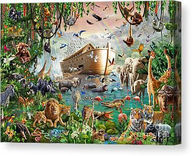 Flood Digital Art Canvas Prints