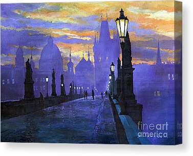 Old Street Paintings Canvas Prints