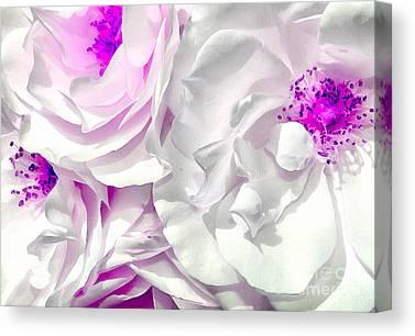 Digital Paint Flower Canvas Prints