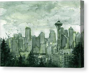 Seattle Skyline Canvas Prints