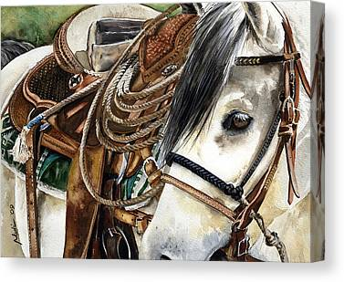 Classic Saddle Canvas Prints