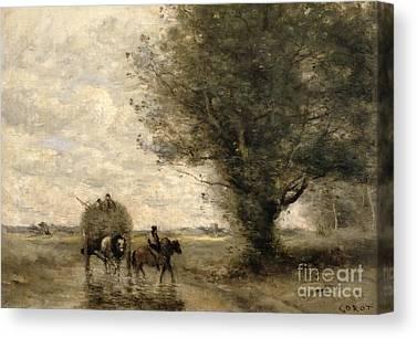 Cart Horse Canvas Prints