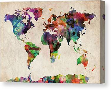 Map Of The World Canvas Prints