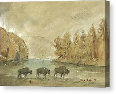 Yellowstone National Park Canvas Prints